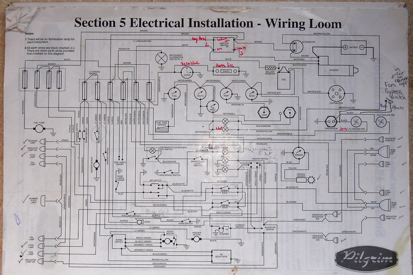 wiringdiag electrics general and misc how to build a pilgrim sumo land rover series 3 wiring loom diagram at fashall.co